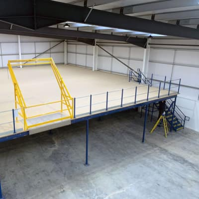 Design, Manufacture And Installation Of A Mezzanine Floor For A New Building