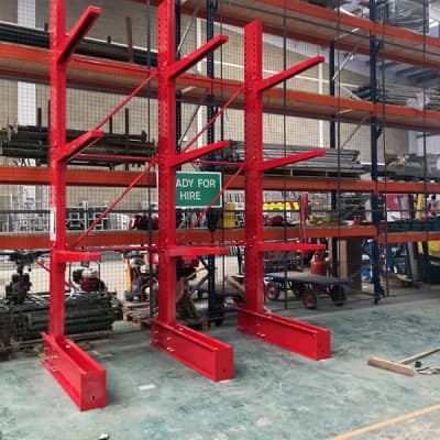 Installation Of New Weight-Compliant Cantilever Racking