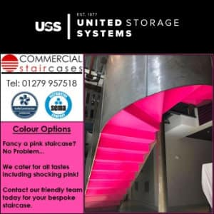 Shocking Pink Staircase